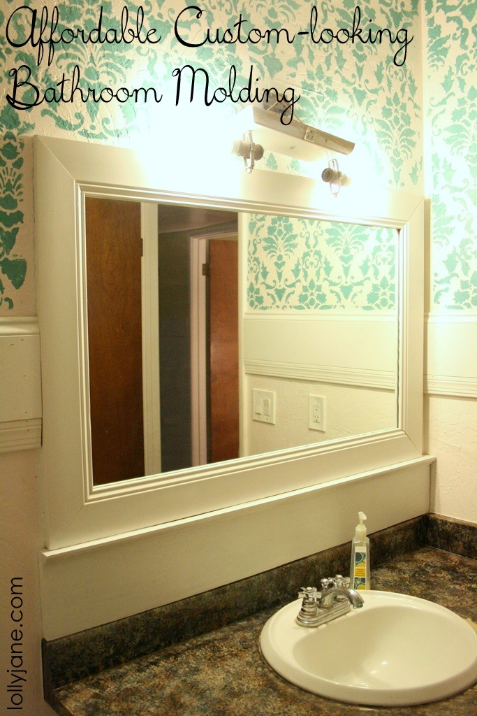Get custom bathroom molding for a fraction of the price. Learn how @Lolly Jane!