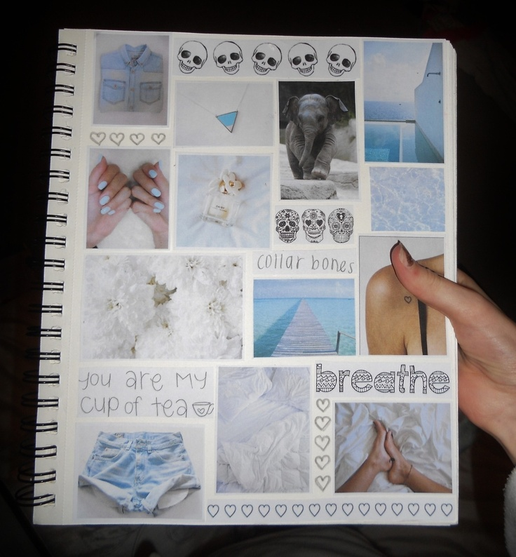 Collage Style Book Cover ~ Tumblr dash scrapbook diy and crafts pinterest posts