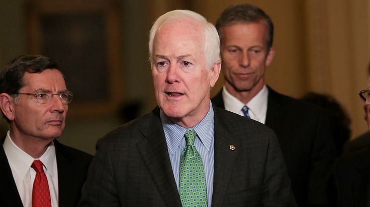 """Sen. John Cornyn (R-Texas) in a Sunday interview said President Trump has """"created problems for himself"""" in his use of Twitter."""
