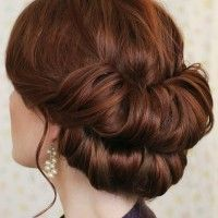 chignon hairstyles, low bun hairstyles - double chignon | trendy-hairstyles-for-women.com
