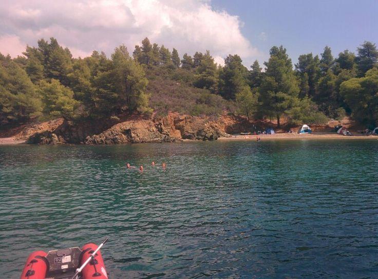 Remote Halkidiki beach