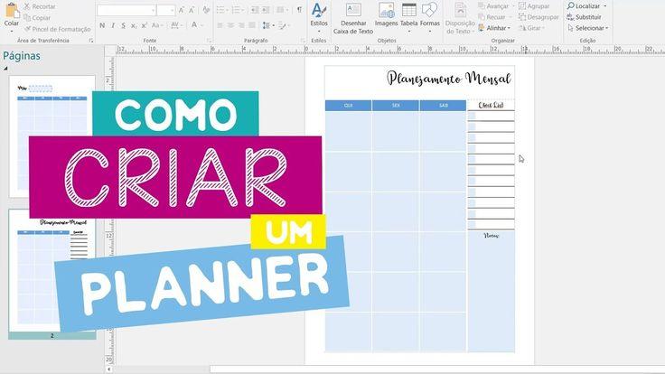 Como Criar um Planner - DIY (Isabella Cristina)
