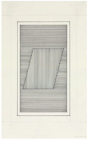 Sol LeWitt (1928-2007), Parallelogram  signed and dated 'Lewitt 9/27/79' (lower right)  graphite and ink on paper, Drawn in 1979. - John Weber Gallery, New York