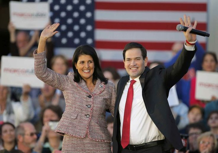 White House Hopeful Rubio Nabs Big Endorsement Before Crucial Primary Vote.  South Carolina Governor Nikki Haley, viewed in Republican circles as a possible U.S. vice presidential candidate, will endorse U.S. Senator Marco Rubio for their party's 2016 White House nomination on Wednesday, three days before her state's presidential primary, said a source familiar with the...  Read more:  http://www.nationalmemo.com/white-house-hopeful-rubio-nabs-big-endorsement-before-crucial-primary-vote/