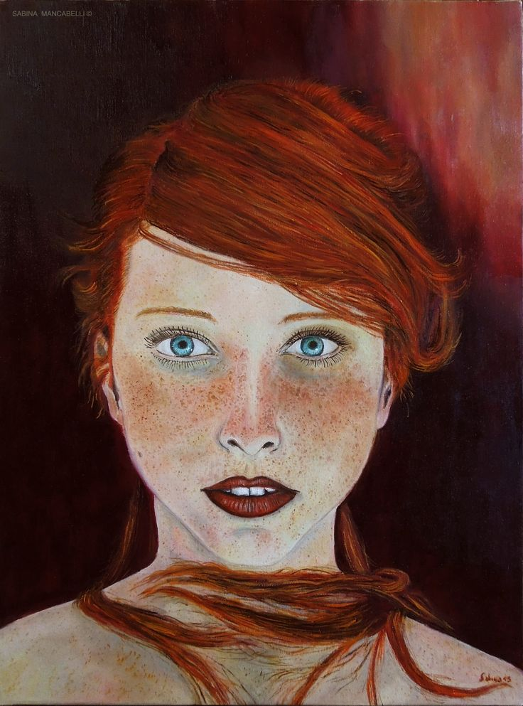 Scarlet's dreamy gaze-30x40- 2015