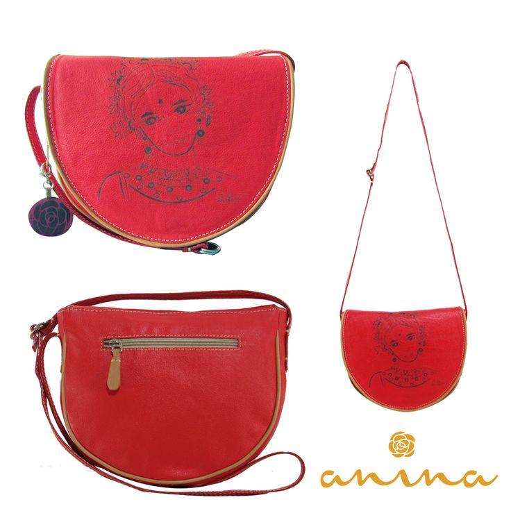 Anina en cuero rojo con grabado laser de la pintura de la artista Valentina Castaño inspirada en La India Pedidos whatsapp: +57 3215012513 #leather #cuero #rojo #red