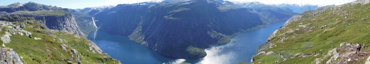 panorama from the hiking on Trolltunga