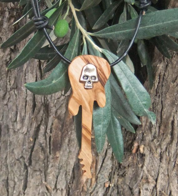 Guitar pendant inlaid with alloy skull hand by ellenisworkshop