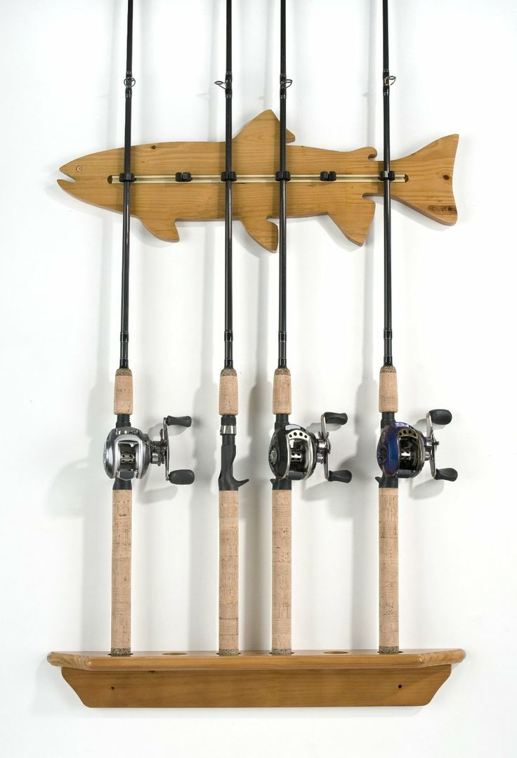 60 best fishing rod rack images on pinterest fishing for Wall fishing tools