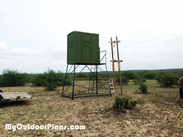 9 Free DIY Deer Stand Plans: Free Deer Stand Plan from My Outdoor Plans