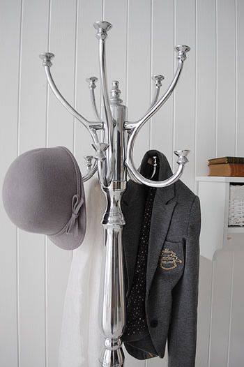 Chrome coat stand. Bentwood traditional hat and coat Stands from The White Lighthouse #BHSlightupyourlife