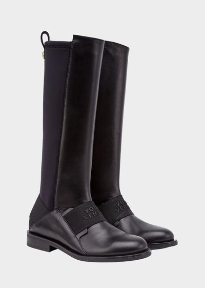 Young Versace Logo Boots - Young Versace Accessories
