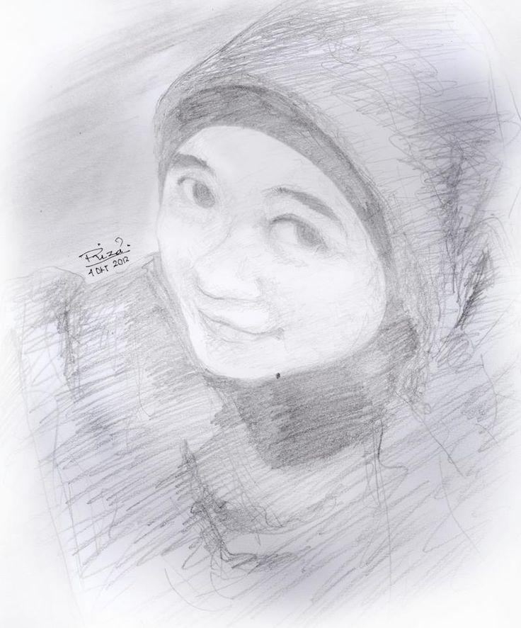 Skatch-sketch of a little girl