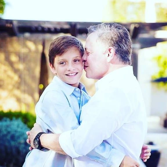 Also celebrating his birthday with his papa is Prince Hashem of Jordan. Born to Their Majesties King Abdullah bin Al-Hussein and Queen Rania Al-Abdullah on January 30th 2005. He is the youngest of four children with elder brother Crown Prince Hussein Abdullah and elder sisters Princesses Iman Salma. #lovejo #jordanroyalfamily #jordans #princehashem #12thbirthday #royalbirthday #jordanian #royals #queenrania #kingabdullah http://ift.tt/2kLob46 - http://ift.tt/1HQJd81