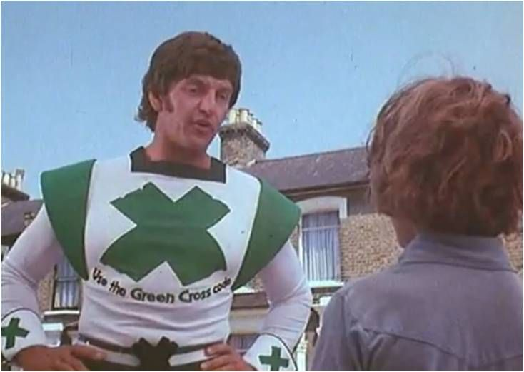 Green cross code man....famous actor after this...Darth Vader ...Star Wars