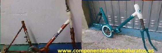 ¿ Qué os parece como va quedando después de la pintura ? Propiedad de Componentes Bicicleta Baratos en Zaragoza.