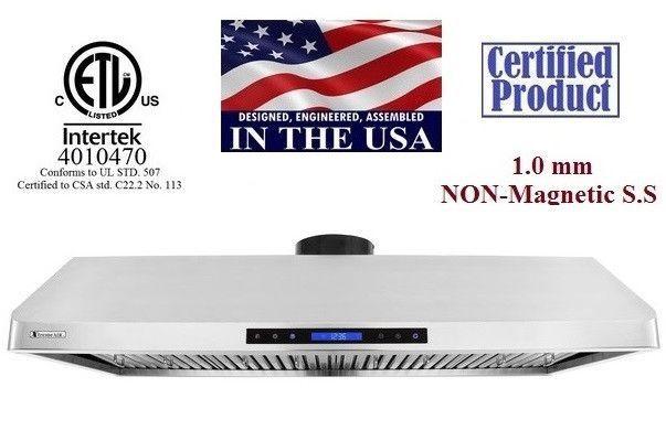 XtremeAir USA Stainless Steel Under Cabinet Range Hood PX10-U48