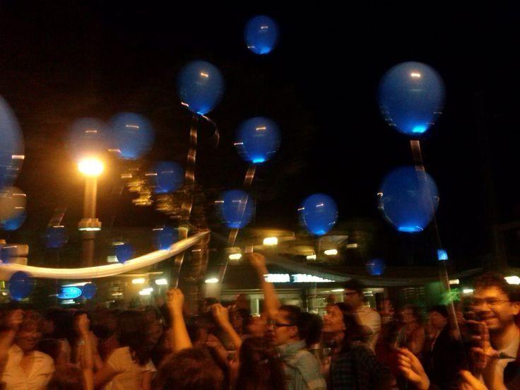 I mille palloncini blu!!!! #notteceleste
