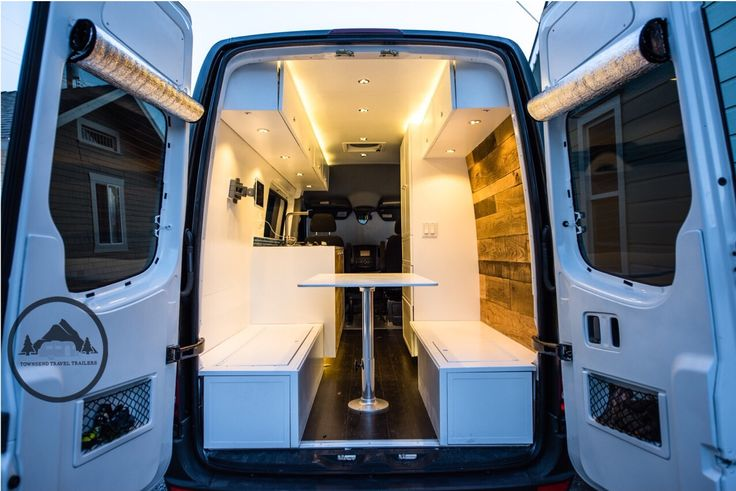 Custom Sprinter Van conversion by Townsend Travel Trailers. Check out more at townsendtraveltrailers.com