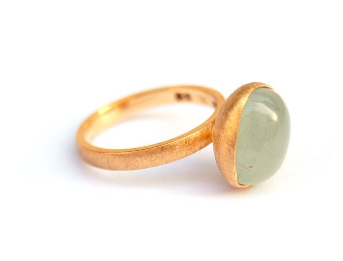 Wolkring met aquamarijn | Rings, Ringen, Ringe | GoLDFABRIK - Fairtrade & Fairmined Designer Jewelry