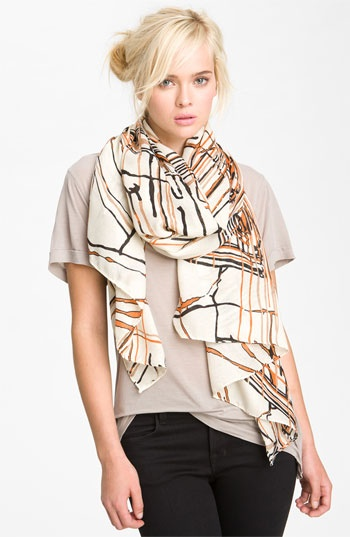 Super cute scarf! Raj Imports 'Painted Lines' Scarf | Nordstrom falltrends