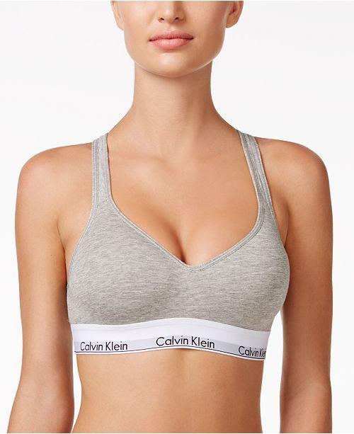 6c7753a3 Calvin Klein Modern Cotton Padded Bralette QF1654 | Brasieres ...