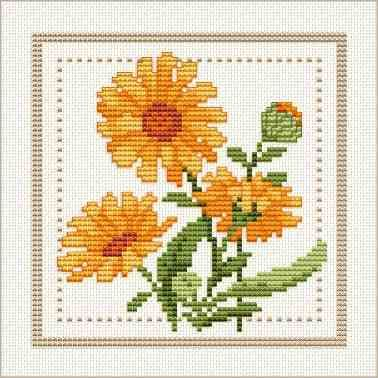 Free Cross Stitch Chart: Flower of the Month.  Includes other months & info about the individual flowers.