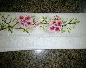 Toalha de rosto - cerejeiras