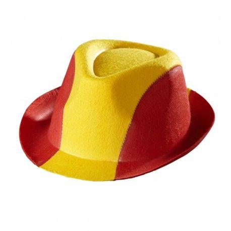 #Sombrero con los colores de la #Bandera de #España #Selección #Española de #Fútbol