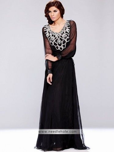 black party wear long gown and party dress