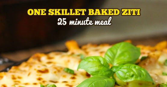 25-Minute Baked Ziti Skillet is inspired by my mom and her love of ...