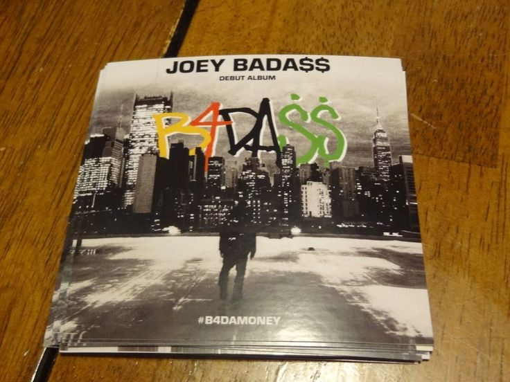 JOEY BADASS DEBUT ALBUM STICKER B4DA$$ RARE STICKER RAP XXL RAPPER ALBUM LP CD
