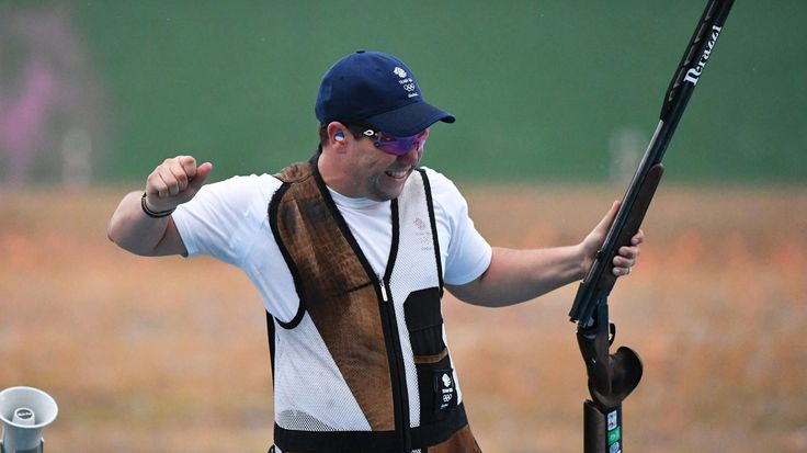 In an agonising bronze-medal match for the small contingent of British fans at the Olympic shooting venue in Rio de Janeiro, Steve Scott shot a perfect 30 to beat his team-mate, Tim Kneale, in the double trap and win Britain's second bronze medal in shooting.