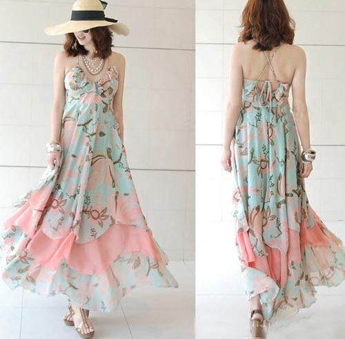 Natural Best Selling Bohemian Printed  Maxi Dresses  Maxi Dresses from stylishplus.com