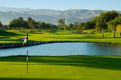 Golf course and mountains in Palm Springs, California Copyright iStockPhoto.com/SDbT #PalmSprings #California #Greatplaces