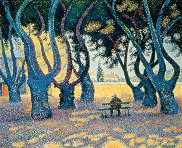 Paul Signac (1863-1935) was a French neo-impressionist painter who, working with Georges Seurat, helped develop the pointillist style. I 1884 he met Claude Monet and Georges Seurat. He was struck by the systematic working methods of Seurat and by his theory of colors and became Seurat's faithful supporter, friend and heir with his description of Neo-Impressionism and Divisionism method.