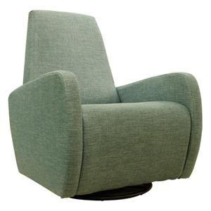 Karbon Swivel Chair in Key Largo Teal | Nebraska Furniture Mart