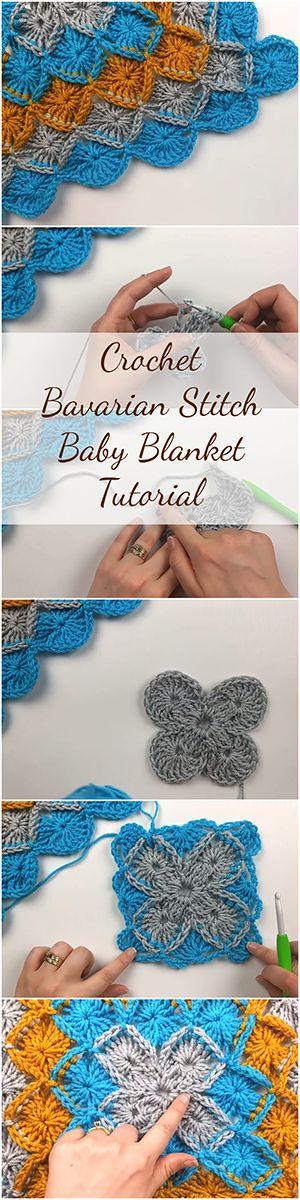 Crochet Bavarian Stitch Baby Blanket Tutorial