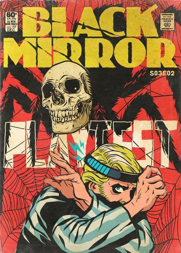 Black Mirror Playtest, Charlie Brooker S03 EP02 Art by Butcher Billy