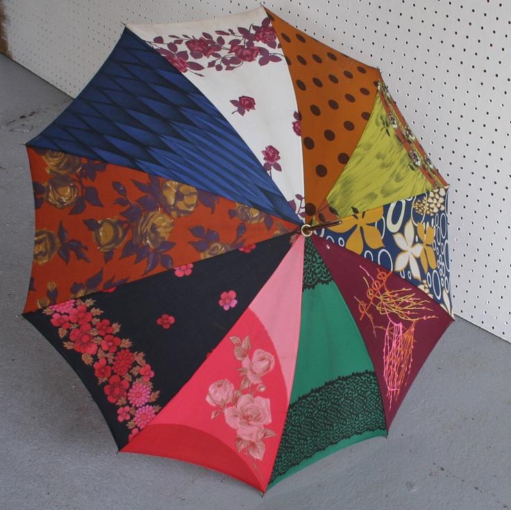 patchwork umbrella, Winter's Moon