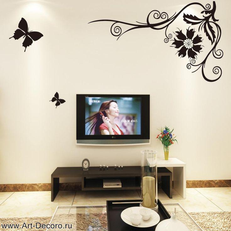 фото Полет черной бабочки, выбор интерьера комнаты.