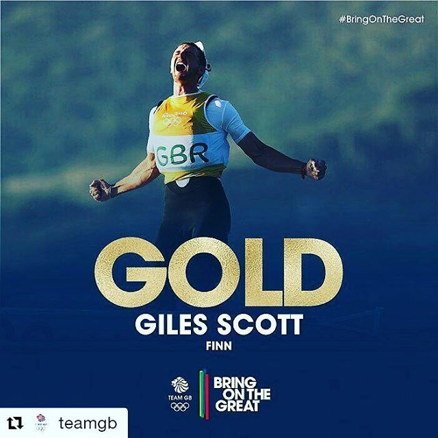 #Repost @teamgb with @repostapp ・・・ Giles Scott, this is your moment! Enjoy it - the nation certainly has!  #sailing #Rio2016 #BringOnTheGreat #teamgb