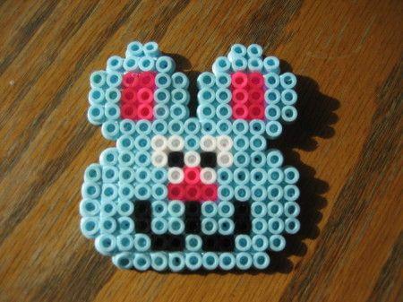 The bunny pyssla/ hama beads