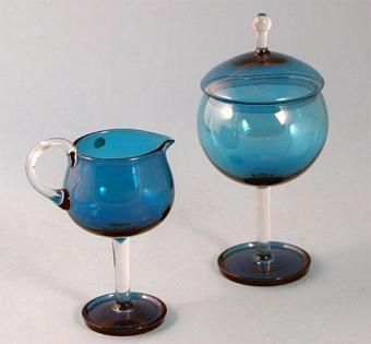 Some other objects of Harlekiini (Harlequin) series I have: Creamer 1193 and Sugar bowl 1192 by Nanny Still, designed 1958