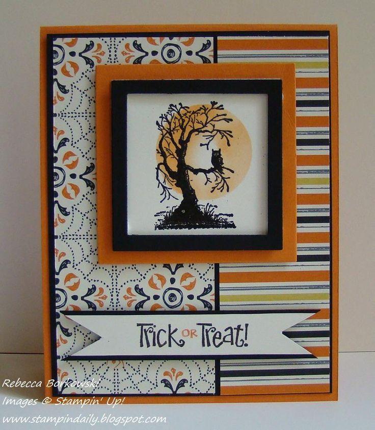 stampin up halloween - Handmade Halloween Cards Pinterest