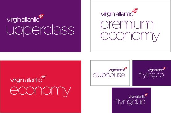 Virgin Atlantic colour spectrum.