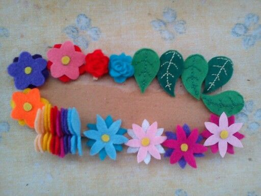 Csipeszes filc virágok