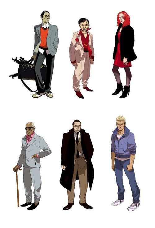 Character designs by Asaf Hanuka