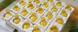 Jogurtové kostky s mákem a citrónem