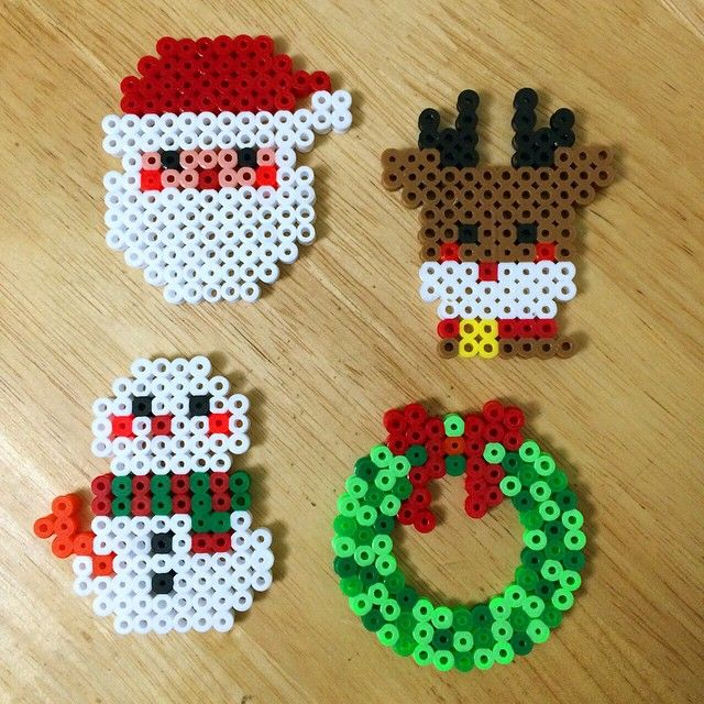 Christmas ornaments perler beads by myjsi000